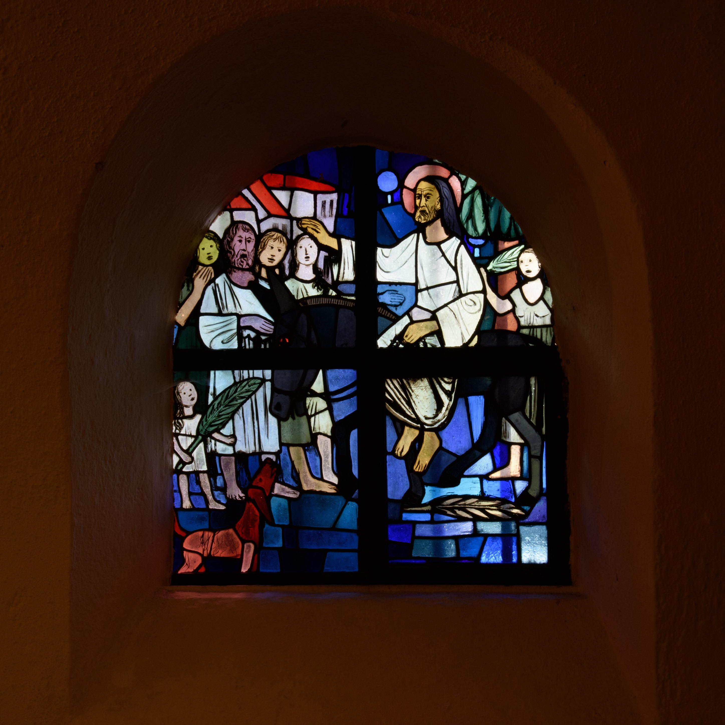 Kirchenfenster PP Einzug in Jerusalem