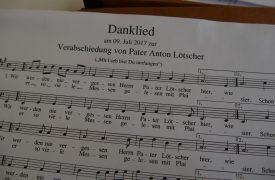 Verabschiedung P.Lötscher Danklied-Noten