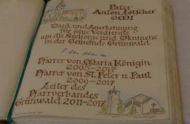 Verabschiedung P.Lötscher Eintrag Goldenes Buch