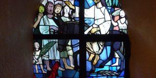 Einzug Jesu in Jerusalem Fenster PP Palmsonntag